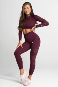 Gym Glamour Legíny Bezšvíkové Dark Berry