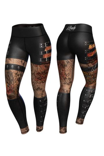 Anarchy Apparel Hellraiser Compression Leggings