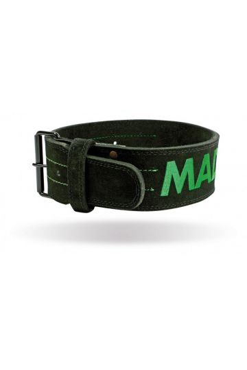 "MadMax Suede Single Prong belt - 4"" 10 mm opasek"