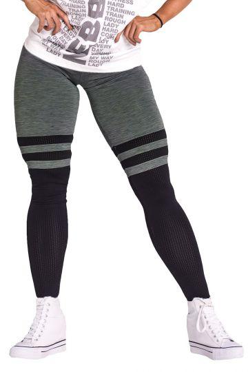 NEBBIA Over the knee - Khaki leggings 286